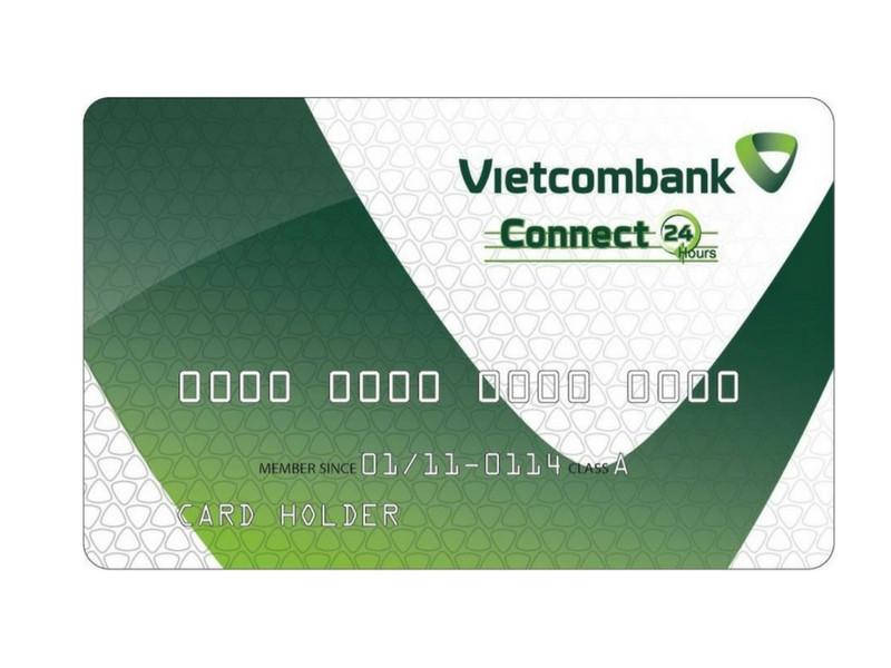 ảnh chụp mặt trước của thẻ ngân hàng