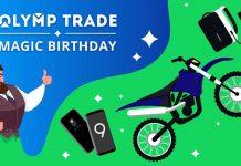 Mừng Olymp Trade Tròn 4 Tuổi Giải Thưởng Xe Máy Yamaha, SamSung Galaxy S9
