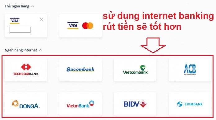 Sử dụng tài khoản Internet Banking