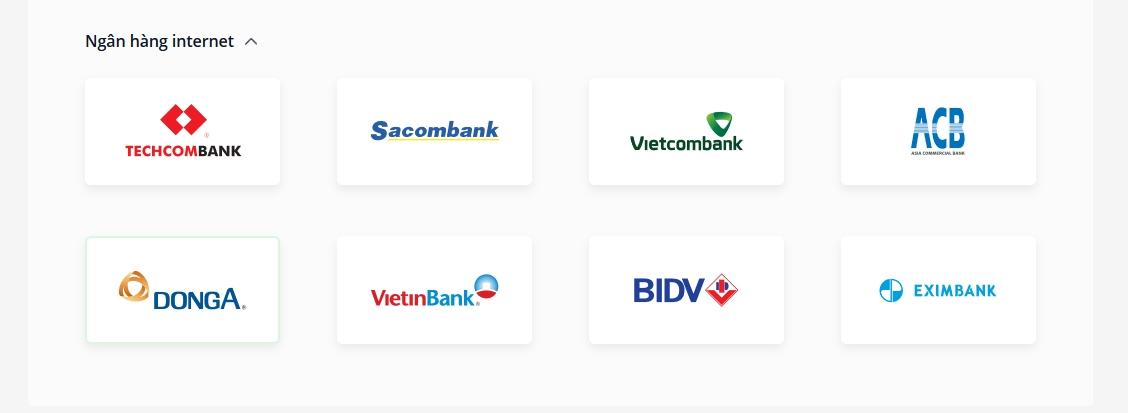 Rút tiền Olymp Trade Với internet banking của các ngân hàng nội địa
