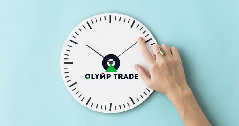 Mất rất ít thời gian để canh lệnh Olymp Trade