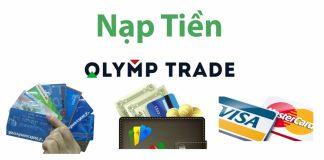 Nạp tiền Olymp Trade bằng thẻ Visa hoặc Mastercard