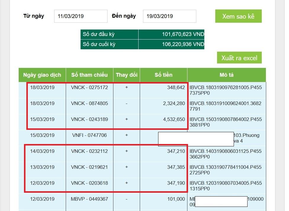 Rút tiền từ Olymp Trade về ngân hàng Vietcombank