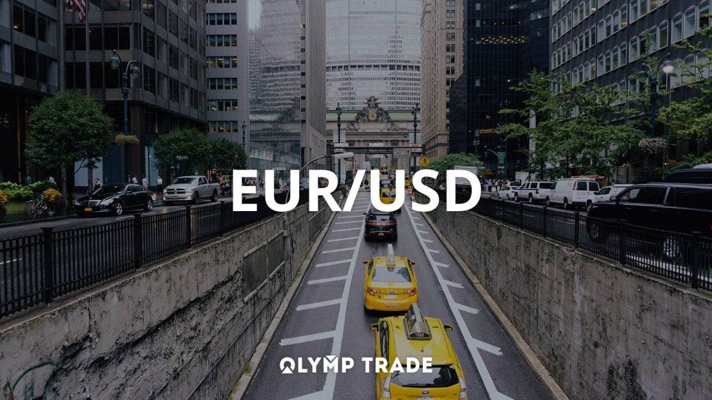 Chơi Olymp Trade với cặp tiền EUR/USD