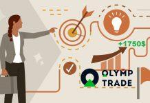 Kiếm sương sương 1750$ với mô hình giá tam giác trong Forex tại Olymp Trade